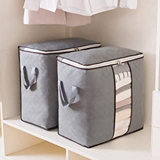 Foldable Storage Bag Clothes Organizer[46 * 48 * 28] [1Pack] Storage Bag Organizer with Reinforced Handle Thick Fabric for...