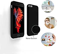 AnsTOP iPhone 6/6s Plus Case, Selfie Magical Sticky Cover, Hands Free Nano Suction Stick to Glass, Tile, Most Smooth Surface for iPhone 6/6s Plus (5.5'' Black)