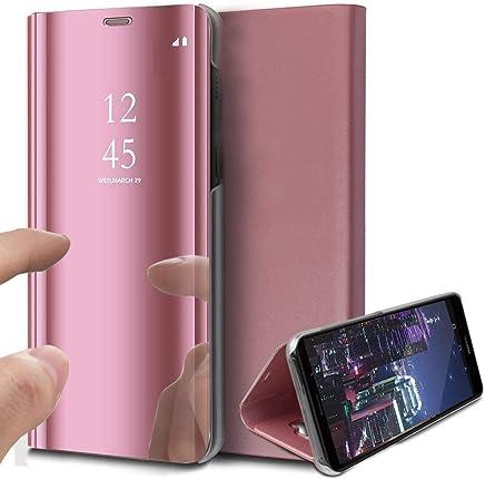 ebbff3a220c HMTECH Sony Xperia XZ Funda Espejo Mirror Cuero de PU Bookstyle Swag Flip  Leather Protector de Cuerpo Completo Carcasas Case para Sony Xperia XZ,Rose  Gold ...