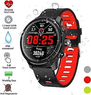 Qimaoo Reloj Inteligente, Smartwatch Hombre Mujer IP68 Impermeable Reloj Smart Watch con Pulsómetro, Monitor de Calorías, Múltiples Modos de Deportes, GPS Podómetro, Fitness Tracker para iOS Android