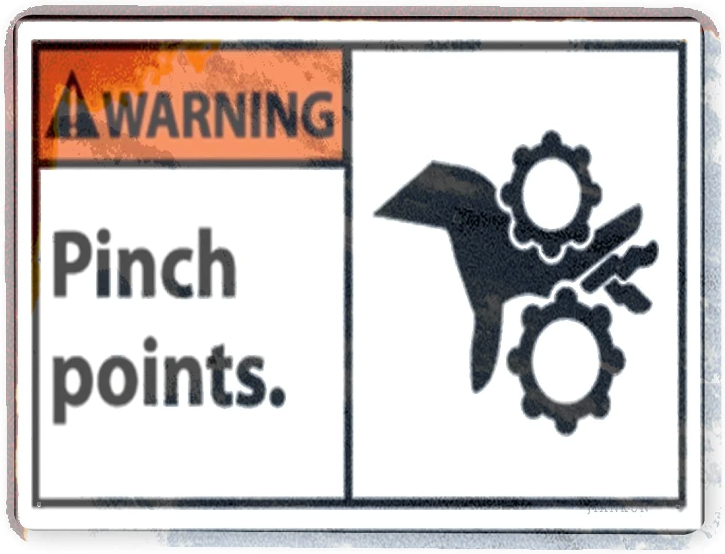 In stock J.DXHYA Daily bargain sale Man Cave Decor 2 Point Pinch Sign Warning Pieces