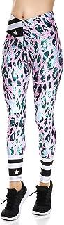 Fanii Quare Women's High Waist Dri-Fit Running Tights Printed Training Compression Workout Pants