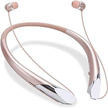 Bluetooth Retractable Headphones, 2020 Upgrade Wireless Earbuds Neckband Headset Sports Sweatproof Earphones with Mic (15H...
