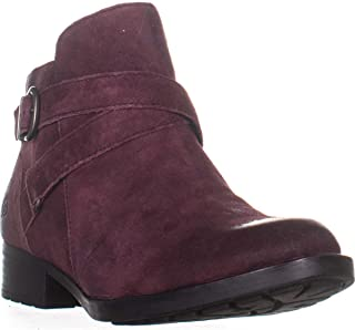 Born Chaval Flat Casual Ankle Boots, Burgundy