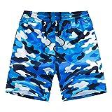 ZDAMN Pantaloni Surf Swimwear degli Uomini Pantaloncini da Bagno da Uomo Summer Pure Color Pantaloncini da Spiaggia Casual Pantaloncini Sportivi in Cotone Costumi da Bagno Sottomarino Uomo