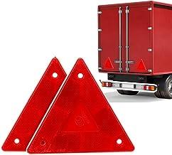 AOHEWEI Rouge Triangle R/éflecteurs Arri/ère de Signalisation Triangulaires Catadioptres R/éflecteurs de S/écurit/é pour Remorque Moto Caravane Camion Bateau Rouge