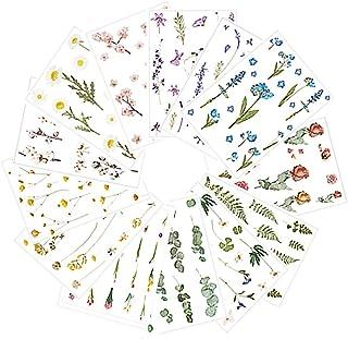 Sweieoni Autocollants Stickers 9 Fleurs Autocollants 4 Autocollant Feuilles Motifs Scrapbooking Papier Stickers Autocollan...
