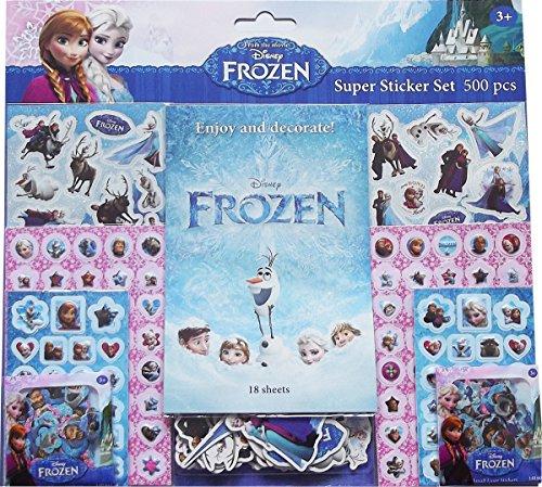Set: 500 Pegatinas. Frozen Super Sticker
