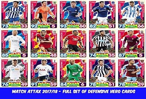 Match Attax 6 2017//18 conjunto completo de todas las tarjetas de 4 Freestyler