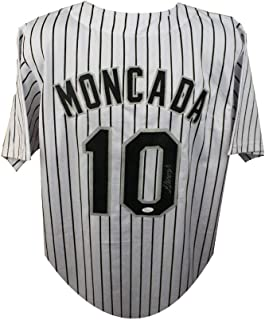 Yoan Moncada Autographed Chicago White Sox Custom White Baseball Jersey - JSA COA