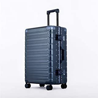 """Stylish and durable Wheels Travel Rolling Boarding,20""""24""""26""""Inch 100% Aluminium Spinner Aluminium Convenient Trolley Case,Super Storage Luggage Bag, high quality (Color : Blue, Size : 20inch)"""