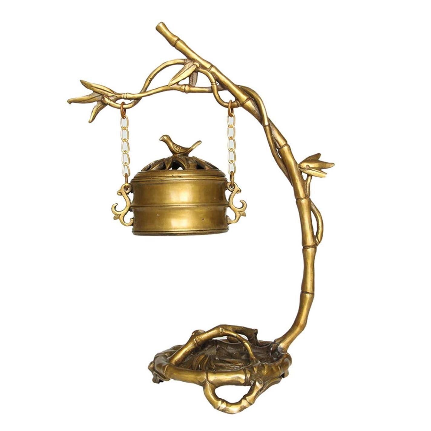 商標タービン彫刻逆流香バーナーホーム銅逆流香コーンホルダーバーナー家庭、オフィス、茶室、瞑想、ヨガなどに適しています。