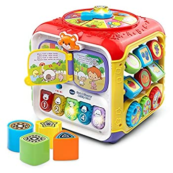 VTech Sort and Discover Activity Cube  Frustration Free Packaging  Red