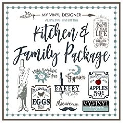My Vinyl Designer Kitchen and Family Package USB Vector Art, AI, EPS, SVG, and DXF Files