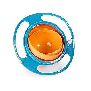 Pycong وعاء طعام للطفل بمظهر لطيف وتصميم حساس للدوران وقابل للتدوير 360 درجة قياس يونيفرسال مانع للانسكاب، من البولي بروبي...