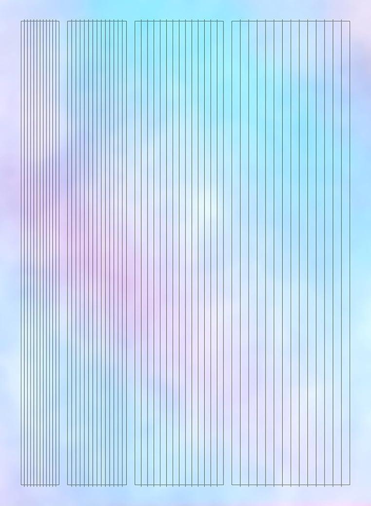 カップルストレージ水平【ツメキラ】 オーロラホロ オーロラフィルムシール ライン ネイルシール