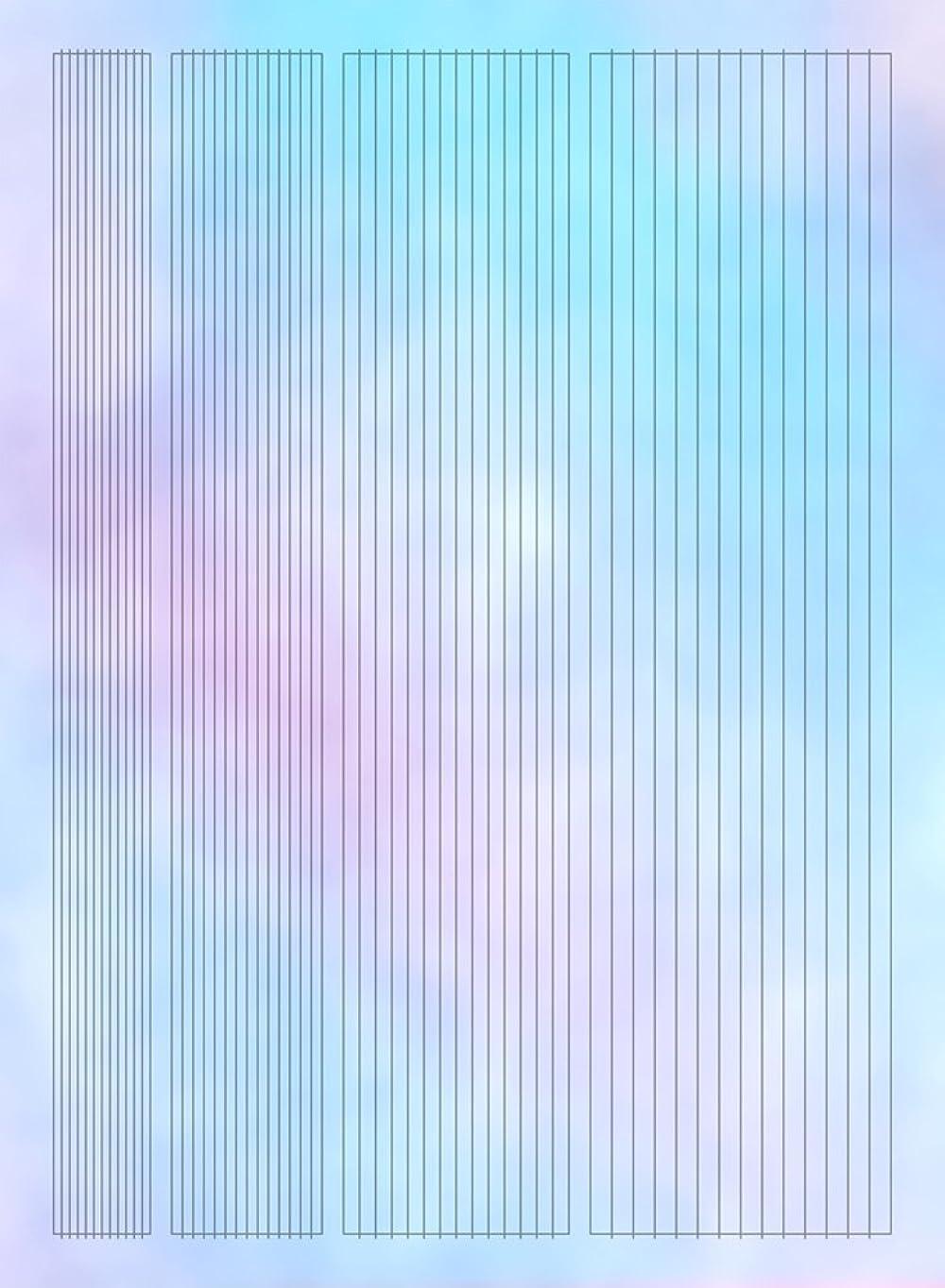 実験をする霜株式【ツメキラ】 オーロラホロ オーロラフィルムシール ライン ネイルシール