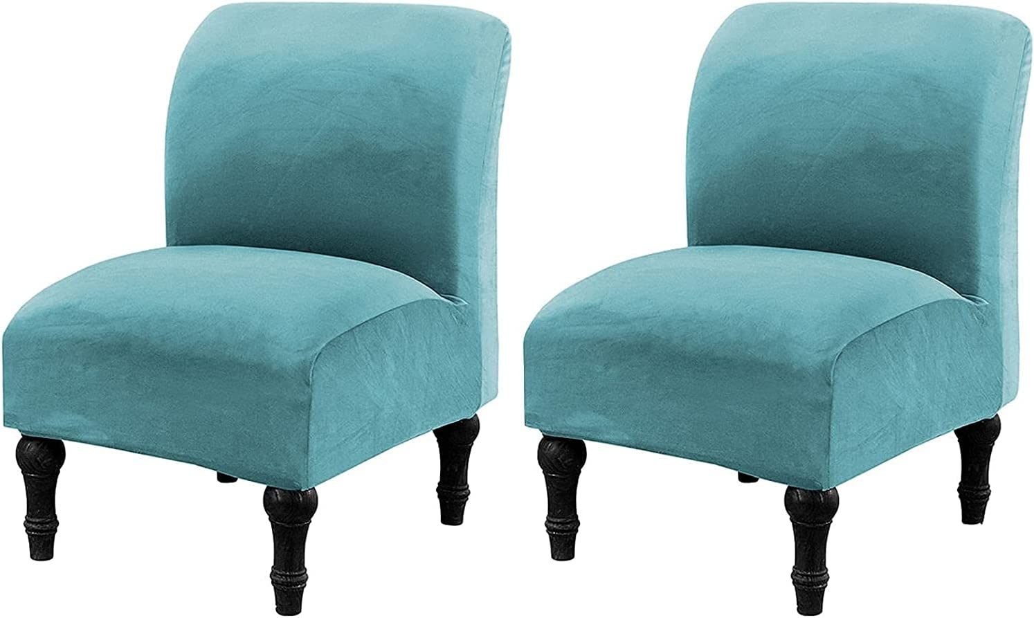 CRFATOP 2 Pieces Velvet Chair Ranking TOP20 Spasm price Stretch Armless Slipcover