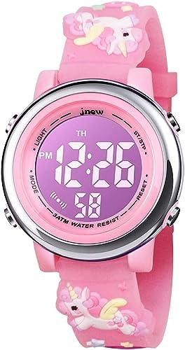 BIGMEDA Reloj Digital para Niños Niña, Luz Intermitente LED de 7 Colores Reloj de Pulsera Niña Multifunción, para Niñ...