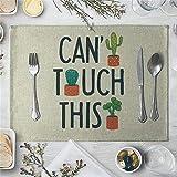 ZCHPDD Kleine Frische Pflanze Saftigen Kaktus Tischset Untersetzer S 40 * 30Cm * 4St