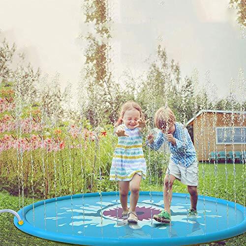 HYQ Sprinkler Wasser Spielmatte, 150Cm Splash Pad Kinder Planschbecken Sommer Wesentlich Spray-Spielzeug Und Outdoor-Garten Familien Aktivitäten Für Kinder