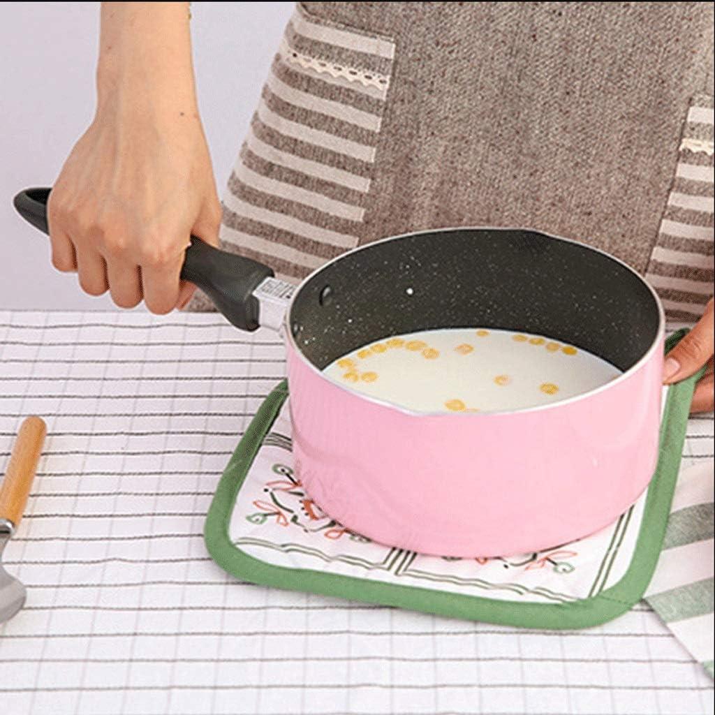 lejia 1pc Lait Pan sans Couverture Stockpots Non Collante Chauffage marmite Portable Pot Multifonction Cuisine de Cuisson Pâtes Pots (Color : Pink) Pink