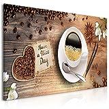 decomonkey Bilder Kaffee Küche 100x45 cm 1 Teilig