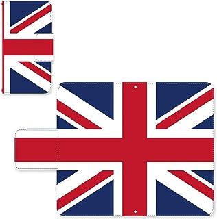 Ascend P7 ☆ ケース・カバー スライド式スマホケース 完全国内印刷 完全受注生産 手帳型 国旗:イギリス SIMフリー SIMカード シムフリー スマホカバー オリジナルデザイン プリント 日本製