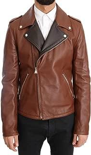 Brown Leather Biker Deerskin Jacket