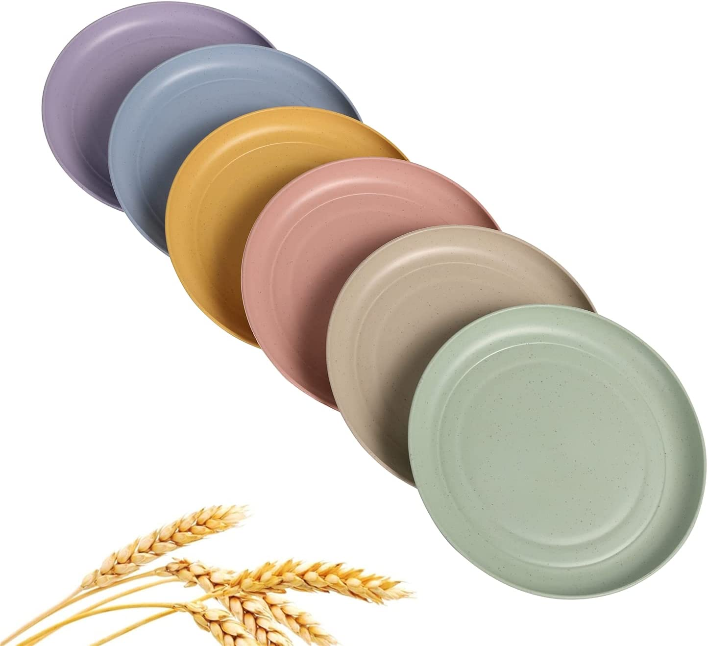 CAMBUY Wheat favorite Straw Plates Direct store Dinner Dishes Lightweight Unbreakable