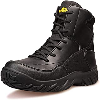 Men's Tactical Military Boots Mid Lace Up Work Climbing Combat Hunting Backpacking Walking Shoes
