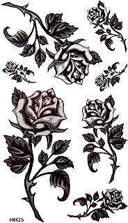 König Horse Black roses Stacheldraht Tattoo weiblichen wass