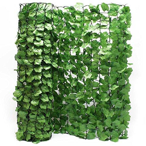 Wiltec Sichtschutznetz Blätteroptik 300cm x 100cm Mauerabdeckung Sichtschutz Plane Netz