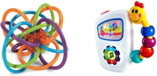 Manhattan Toy Winkel Rattle and Sensory Teether Toy with Baby Einstein Take Along Tunes Musical Toy Bundle