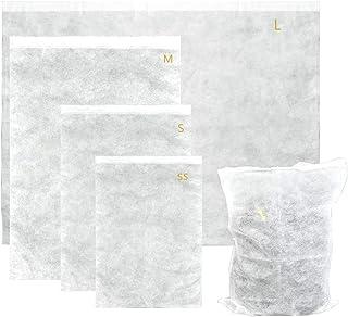 Atpwonz やさしく守る不織布収納袋 12枚セット SSからLまでの4サイズ 大切な物のホコリよけ、キズ付き防止に 靴・バッグ・衣類カバー 保護袋 カバン保管袋