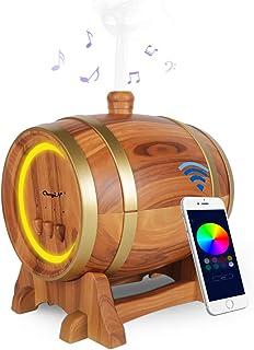Difusor de aromaterapy de música, difusor de aceite esencial, 350 ml, humidificador con altavoz Bluetooth, 3 temporizadores y 7 colores para spa, yoga, oficina, etc. (compatible con Apple y Android)