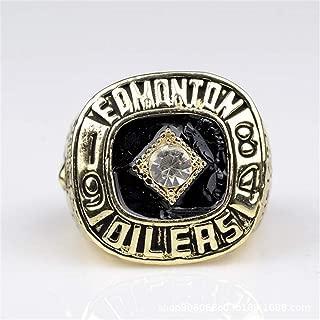 clarisk Men's Ice Hockey 1984 Edmonton Oilers Championship Ring Fashion Men's Titanium Steel Rings