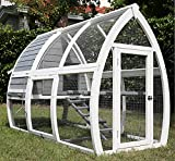 Pets Imperial® Grey Dorchester Chicken Coop Hen House Poultry Nest Box Ark Rabbit Hutch Run
