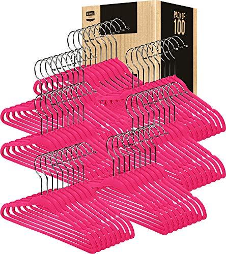 Utopia Home Kids Velvet Hangers - Pack of 25 - Small Clothes Hanger - Non Slip -...