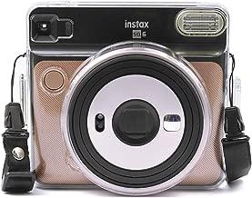 CAIUL Compatible PVC Material Instax SQ6 Shell Case Bag for Fujifilm Instax Square SQ6 Instant Camera (Transparent)