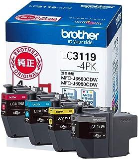 ブラザー工業 【brother純正】インクカートリッジ4色パック(大容量) LC3119-4PK 対応型番:MFC-J6983CDW、MFC-J6583CDW、MFC-J5630CDW 他