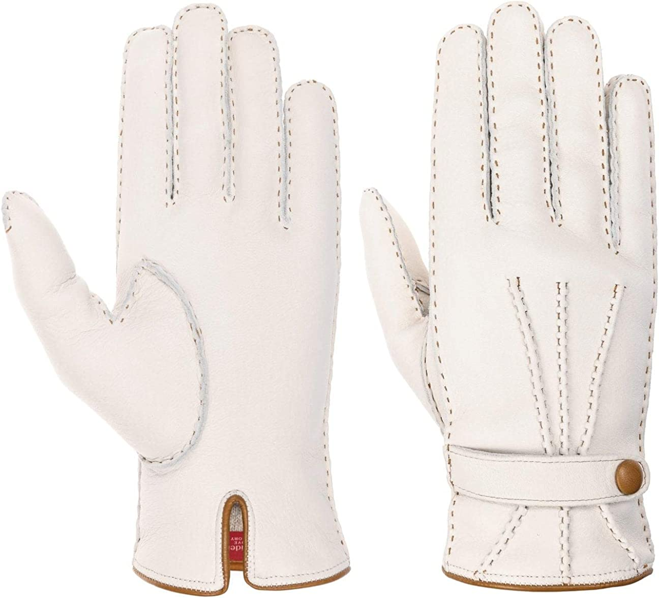Caridei Leather Gloves with Cashmere Lining Women - Made in Italy