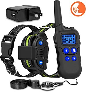 Mewowpet Dog Training Collar, Voice Training Collar with Walki-Talkie Function, 4 Training Modes, Up to 2600 Ft Remote Range