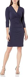 Marca Amazon - Lark & Ro Crepe Knit Cross-Over Empire Wrap Dress Mujer
