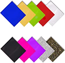 MiPremium PU Heat Transfer Vinyl, Iron On Vinyl, Starter Pack of 10 Most Popular Colors, Assorted Bundle Kit for T Shirts Sports Clothing and Other Fabrics, Easy to Cut Weed & Press (10 x Color Pack)