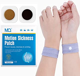 MQ 28ct Sea Sickness Patches with 2 Pairs of Anti-Nausea Wristbands - Relieves Nausea, Dizziness & Vomiting from Motion Sickness, Fast Acting and No Side Effects