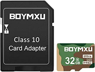 TF Card 32GB,BOYMXU TF Memory Card with Adapter,High Speed Ultra Flash Card UHS-I Card Class 10 Memory Card for Phone Camera Computer-Milltary Color.