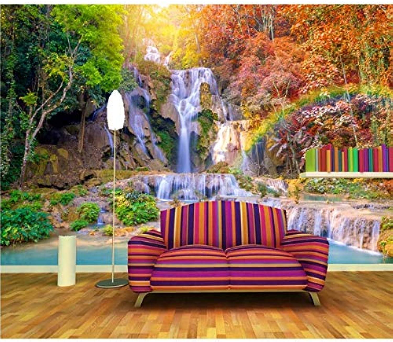 compra limitada Pmhhc Trópicos Cascadas De Otoo árboles Rainbow Naturaleza Papel Tapiz Tapiz Tapiz Fotográfico Salón Tv Sofá Parojo Dormitorio Restaurante Bar Murales De Parojo 3D-200X140Cm  mejor moda