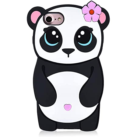 Coralogo Case Compatible for iPod Touch 7/6/5, Cute Animal Cartoon Fashion Character Soft Cover Shockproof Shell Girls Women, Cool Fun Funny Silicone Protective Cases Skin for iTouch 5/6/7 (Panda