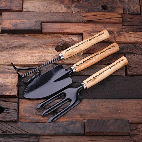 Engraved Garden set Personalised Garden Tools Set Stocking Filler. Custom Engraved Garden Kit 3 Piece Colour Gardening Set Gardening